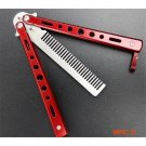Red Stunning Practice Training Stainless Steel Butterfly Trainer Comb Outdoor BC1232