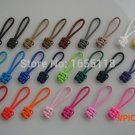 "(10pcs) Handmade 3"" 550 Paracord Zipper Pulls Knife Lanyard Zip Puller For Outdoor Hi"