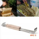 Hot Sale High Quality Handle Wooden Stainless Steel Bee Hive Scraper Beekeeping bee Keeper