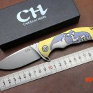 Tactical folding knife S35VN ball bearings Flipper Blade TC4 titanium alloy handle Genuine
