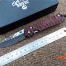folding knife Damascus blade Cocobolo handle pocket camping hunting tactical knife outdoor