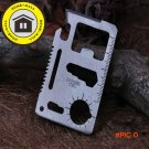 1 pcs Camping Multipurpose tool 11 in 1 Multifunction Card Knife,Pocket Survival Tool Outd