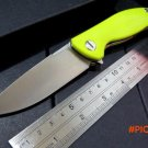 Custom F3 Bearing system Floding knife Metal wire drawing D2 blade G10 handle hunting camp