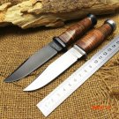 Newest Hunting KA-BAR OLEAN NY USN MK1 Fixed Knife 7CR17Mov Blade Steel+Leather Handle Tac