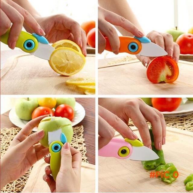 Mini Folding Fruit Knife Plastic Portable Gift Knife Pocket Knives Kitchen Paring Knife Fo