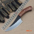 New Style Hot Sell High-carbon steel Hand made fixed hunting knife 58HRC Rosewood handle s