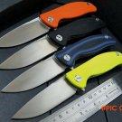 Custom Small F3 ball bearing folding knife 9cr18mov steel blade+G10 handle Fixable hunting
