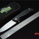 Green thorn 95 hati ball bearings folding knife S35VN blade carbon fiber titanium handle c