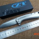 Knife D2 blade model ZT0808 Outdoor folding knife EDC ball bearing pocket flipper camping