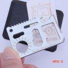 1pcs Multi Pocket Saber Card Knife Outdoor Camping Survival Universal Life Saving Stainles
