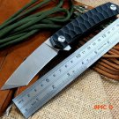 Newest  ST Bearing folding knife  D2 steel blade knife 58-60HRC tanto point blade TC4 tit
