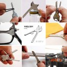 6 In 1 Utili-Key Multitool Keychain Shape Folding Pocket  Knife Tool Camping Survival Trin