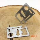 1Piece Army Knife Credit Card Survival Pocket Knife Multifunction Multi Mini Saw Camping T
