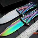 New CSS-111 Tactical folding knife bearing flip camping survival pocket knives 9CR15MOV bl