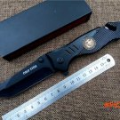 Tactical survival folding Knife 440c blade All black outdoor  rescue knife utility camping