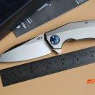 Fule Kevin 0456 ZT0456 Flipper folding knife bearing 204P blade Titanium handle outdoor ca