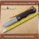 DS017 2016 new style damascus steel knife with G10 handle utility folding knife Camping Kn