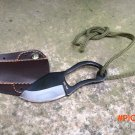 EDC gear portable karambit claw stainless steel mini knife cutter with leather cover utili