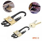 Outdoor Camping Hiking Tools Mini 20 in1 Pocket Multi Tool Bottle Opener Key Ring Keychain