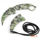 CS GO Camouflage Tactical Counter Strike Neck Claw Knife Survival Camping Tool Camping Hi