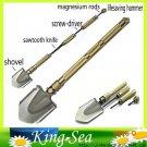 Free Shipping ordnance shovel folding multifunctional shovel/knife/screwdriver//magnesium