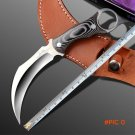 2016 Horn handle Hunting Claw Knife 59HRC Silk Survival Fixed Blade Knife Camping EDC Tools BC2169