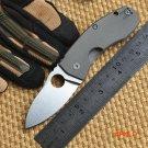 Ben Newest C158 ball bearing folding knife D2 blade TC4 Titanium handle camping hunting ou