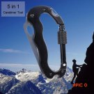 5 In 1 Multifunctional Folding Knife Multi Carabiner Hanging Buckle Tool for Camping Hikin