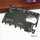 50pcs/lot 18 in 1 Mutifunction Credit Card Size Tools Portable Wallet Knife,Outdoor Campin