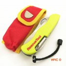 111mm Yellow Multi-functional tool Swiss Knife Outdoor Camping Survival Rescue knife Foldi