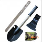Multi-function portable folding shovel survival kit Knives ax folding saws camping gear to