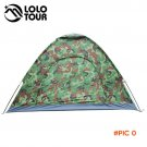 4 Person Camouflage Camping Tent 200x200x130cm Outdoor Camp Folding Hiking Tenda Single la