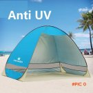 Anti UV beach tent 2 person silver coating sun shelter quick antomatic opening pop up awni