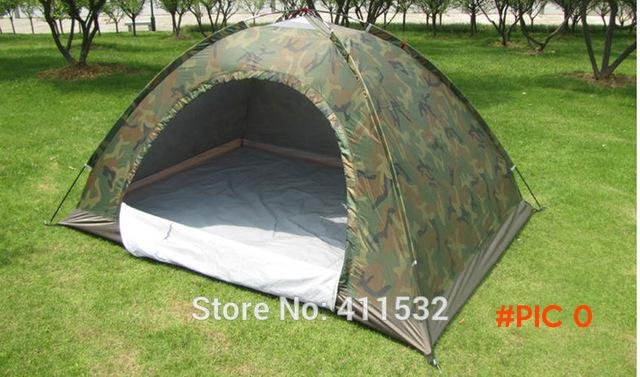 Outdoor camping tent double single tier Camouflage tent rain tents lovers tent TE55321361 BC76