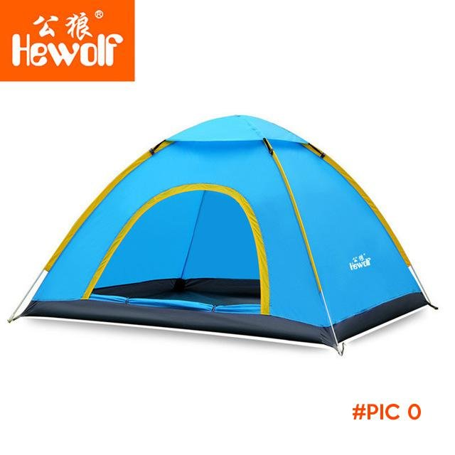 Hewolf Ultralight 2 Person Quick Open tent Waterproof  Fully Automatic Tent 4 seasons anti