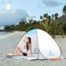 1-2 person Automatic Quick Open Summer Anti UV Beach Tent Half-open Suncreen Waterproof Te