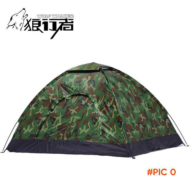 Outdoor Camping Tent Waterproof Awning Fishing Trekking 3 4 Person Single Layer Portable B