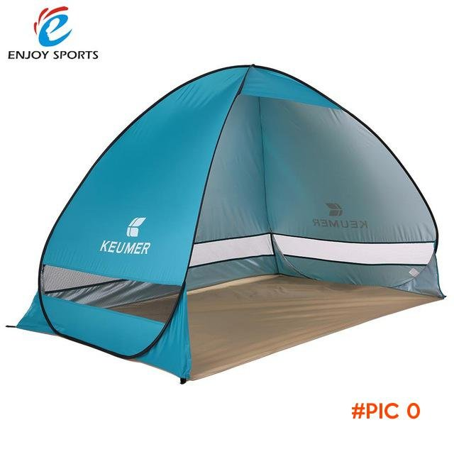 Quick Automatic Opening Beach Tent Sun Shelter UV-Protective Tent Shade Pop Up Open for Ou