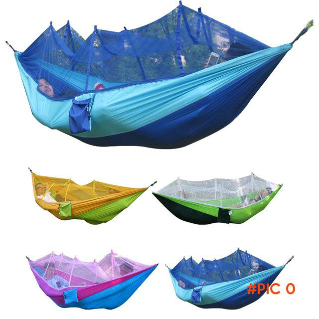 260x130cm Outdoor Waterproof Portable High Strength Parachute Fabric Camping Mosquito Hamm