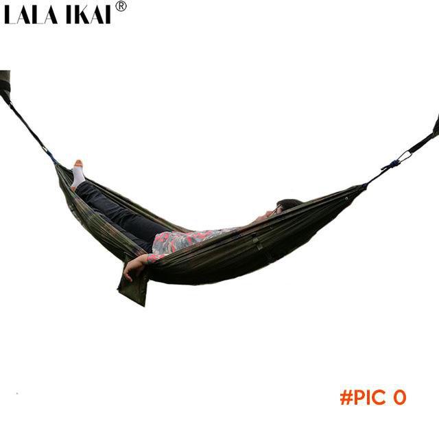 Dense Nylon Netted Hammock Parachute Hiker camouflage Camping Tent 240*120CM Trees Sleepin