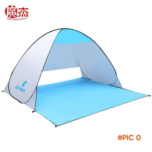 Anti UV Quick Automatic Opening Beach Tent, Protable 3 Person Summer Camping Fishing Pop U