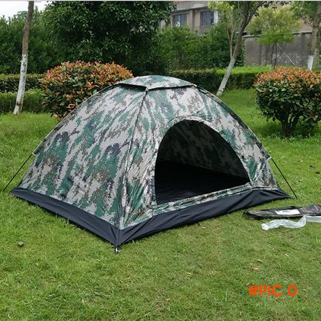 Portable camping tents 2 single waterproof outdoor practical tent camping hiking disguise