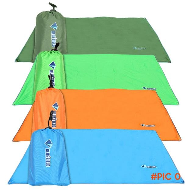 new 2.4*2.2M  Can Use Canopy Cloth Camping Mat Blanket Cushion Pad for Camping Hiking free