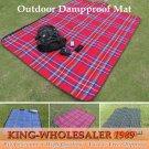 1PCS Portable Camping Mat Outdoor Waterproof Cashmere Picnic Mat Damp-proof Mat Beach Blan