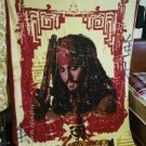 Pirates of the Caribbean Blanket Captain Jack Sparrow Johnny Depp carpet outdoor Camping M