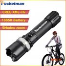 High Power CREE XML-T6 5 Modes Flashlight 3800 Lumens LED Flashlight Waterproof Zoomable T