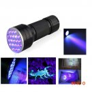 3AAA Aluminium Invisible Blacklight Ink Marker 21 LED UV Ultra Portable Flashlight Torch L