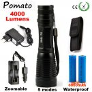 4000LM CREE XML T6 High Power LED Flashlight Aluminum LED Torch Zoomable Flash Light Torch