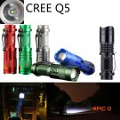 Zoomable Waterproof Light 7w Cree Q5 Led 800Lumen Mini Led Flashlight For Outdoor Sport [S