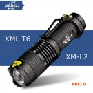 Mini cree xm-l t6 flashlight powerful Zoomable waterproof led torch rechargeable 18650 lan